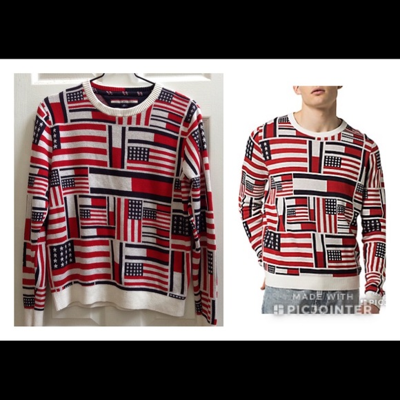 9a731a174 Tommy Hilfiger Sweaters | Icon Flag Sweater | Poshmark